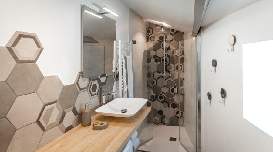 decorizon salle de bains hexagone douche